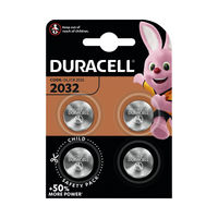 Duracell 2032 Lithium Coin Battery, Pack of 4 - ECR2032