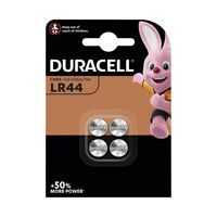 Duracell LR44 Alkaline Button Battery, Pack of 4 - A76/4