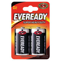 View more details about Eveready Super Battery Size D, Pack of 2 - R20B2UP