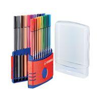 Stabilo Fibre Tip 68 Colour Parade Assortment, Pack of 20 - 6820-03