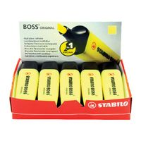 Stabilo Boss Original Yellow Highlighters, Pack of 10 - 70/24/10