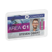 Durable Transparent Permanent Card Holder, Pack of 10 – 8928