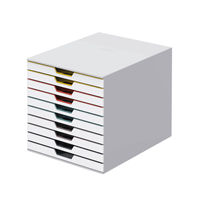 View more details about Durable Assorted Varicolor 10 Drawer Unit - 763027