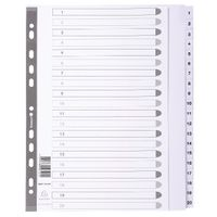 Guildhall White A4 1-20 Mylar Index - MWD1-20Z