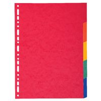 View more details about Exacompta Recycled 5-Part Dividers 225gsm A4 Maxi Bright Multi 2105E