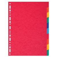 Exacompta Multicoloured A4 Maxi Recycled Dividers 10-Part (225gm pressboard) 2110E