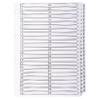 Guildhall White A4 1-50 Mylar Index - MWD1-50Z