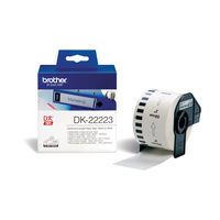 View more details about Brother Continuous Paper Roll Black on White 50mm DK-22223