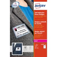 Avery White/Blue 80 x 50mm Self-Adhesive Name Badges, Pack of 200 - L4785-20