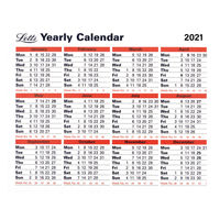 View more details about Letts Yearly Calendar 210 x 260mm 2021 21-TYC