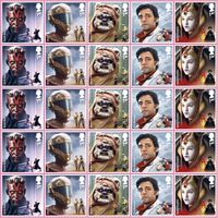 1st Class Stamps x25 (Self Adhesive Stamp Sheet) - Star Wars B