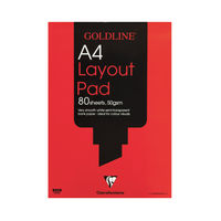 View more details about Goldline A4 White Layout Pad (80 sheets) - GPL1A4