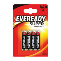 Eveready AAA Super Heavy Duty Battery, Pack of 4 - RO3B4UP