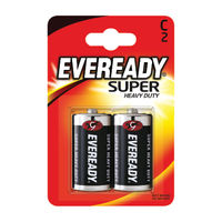 Eveready Super Battery Size C, Pack of 2 - R14B2UP