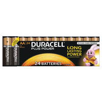 Duracell Plus AA Batteries, Pack of 24 - 81275383