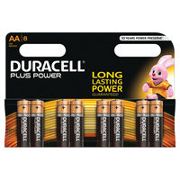 Duracell Plus AA Batteries, Pack of 8 - 81275377
