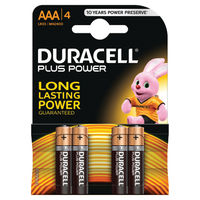 Duracell Plus AAA Batteries, Pack of 4 - 81275396