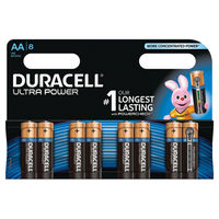 Duracell AA Ultra M3 Batteries, Pack of 8 - 6396573