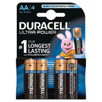 Duracell Ultra M3 AA Batteries, Pack of 4 - 75051955