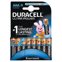 Duracell Ultra M3 AAA/LR03  Battery, Pack of 8 - DU03799