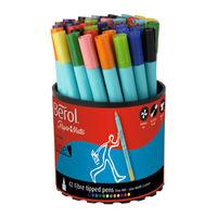 Berol Colour Fine Assorted Felt Tip Tub, Pack of 42 - CFT
