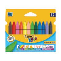 BIC Plastidecor Triangle Crayon Handy, Pack of 12 - BC40011