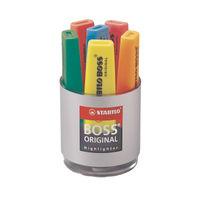 Stabilo Boss Original Assorted Highlighter Deskset, Pack of 6 - 7006