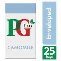 PG Tips Camomile Envelope Tea Bags, Pack of 25 - 49095901