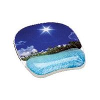 Fellowes Photo Gel Mouse Pad Wrist Rest - 9202601