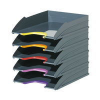 View more details about Durable Assorted Varicolor Letter Tray, Pack of 5 - 770557
