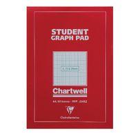 Chartwell A4 Student Graph Pad - 50 Leaf 2, 10, 20mm  - J34B