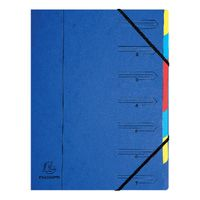 Europa A4 Blue 7 Part Organiser - 54072E