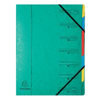 View more details about Europa A4 Green 7 Part  Organiser - 54073E