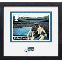 The Elton John Dodger Stadium Framed Stamp and Print