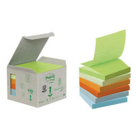 Recycled Pastel Rainbow 76 x 76mm Post-it Z-Notes , Pack of 6 - 3M27423