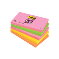Super Sticky Cape Town 76 x 127mm Post-it Notes, Pack of 5 - 655-SN