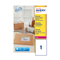 Avery QuickPEEL Recycled Laser Parcel Labels 199.6x289.1mm Pack of 100 - AV81509