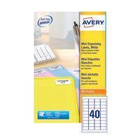 Avery White Mini Address Labels 45.7 x 25.4mm (Pack of 1000)  L7404-25