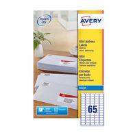 Avery Mini Address Labels 38.1 x 21.2mm (Pack of 1625) - J8651-25