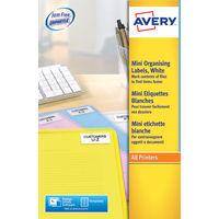 Avery Mini Slide White Labels, 46 x 11.1mm (Pack of 2100) - L7656-25