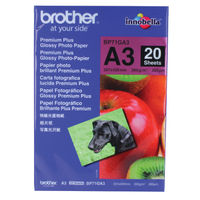View more details about Brother A3 Premium Glossy Photo Paper, 200gsm - 20 Sheets - BP71GA3