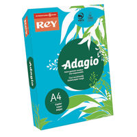 View more details about Rey Adagio Deep Blue A4 Coloured Card, 160gsm - AEBE2116