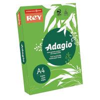 Rey Adagio Intense Green A4 Coloured Card, 160gsm - AEGN2116
