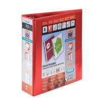 Elba Red A4 Panorama Presentation Lever Arch Files 70mm (Pack of 5) - 400008437