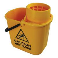 2Work 15 Litre Yellow Plastic Mop Wringer Bucket  - 102946