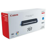 View more details about Canon 707C Cyan Toner Cartridge 9423A004