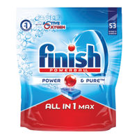 Finish All-in-1 Turbo Dishwasher Tablets, Pack of 53 - RB787212