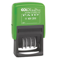 COLOP Green Line PAID and Date Self-Inking Stamp - EM42442