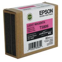 Epson T5806 Light Magenta Ink Cartridge - C13T580600