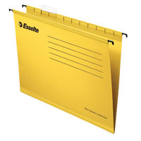 Pack of 25 Esselte Classic V-Base A4 Suspension Files in Yellow with 150 Sheet Capacity - 90314
